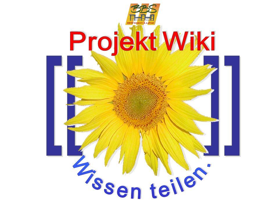 Logo Projekt Wiki [[ ]] Wissen teilen. Projekt Wiki